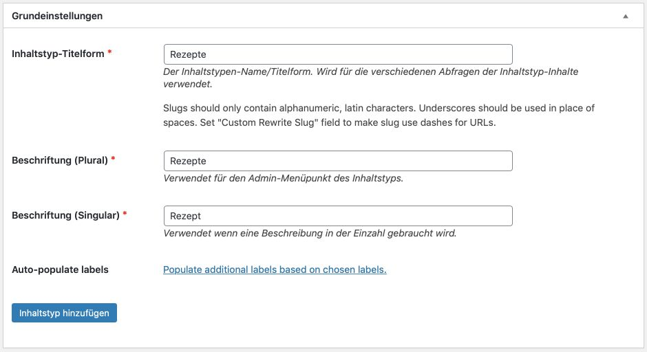 Custom Post Type mit Plugin umsetzen