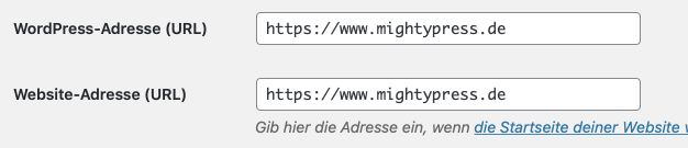 WordPress Permalinks auf https umstellen